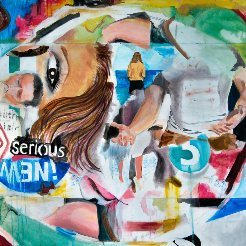 Elisha Sarti - New Painting in Progress - 2012