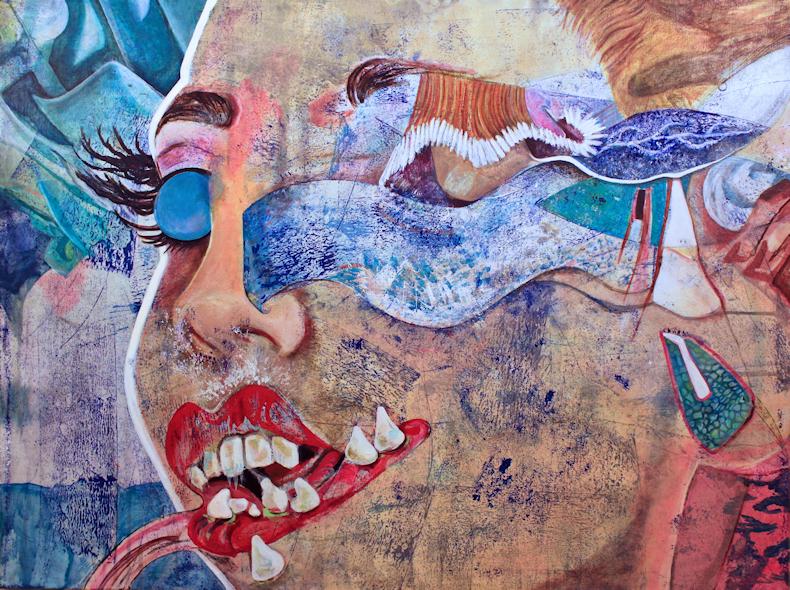 Elisha Sarti - S.E.S.T. (Sky Eye Snaggle Tooth) - Painting - 2017