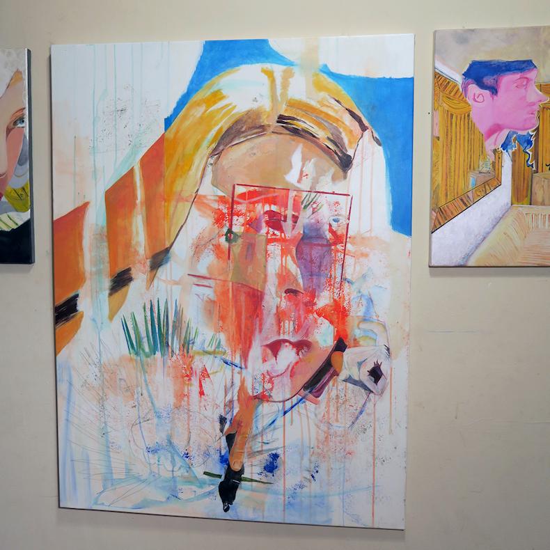 Elisha Sarti - Painting In Progress - 2017