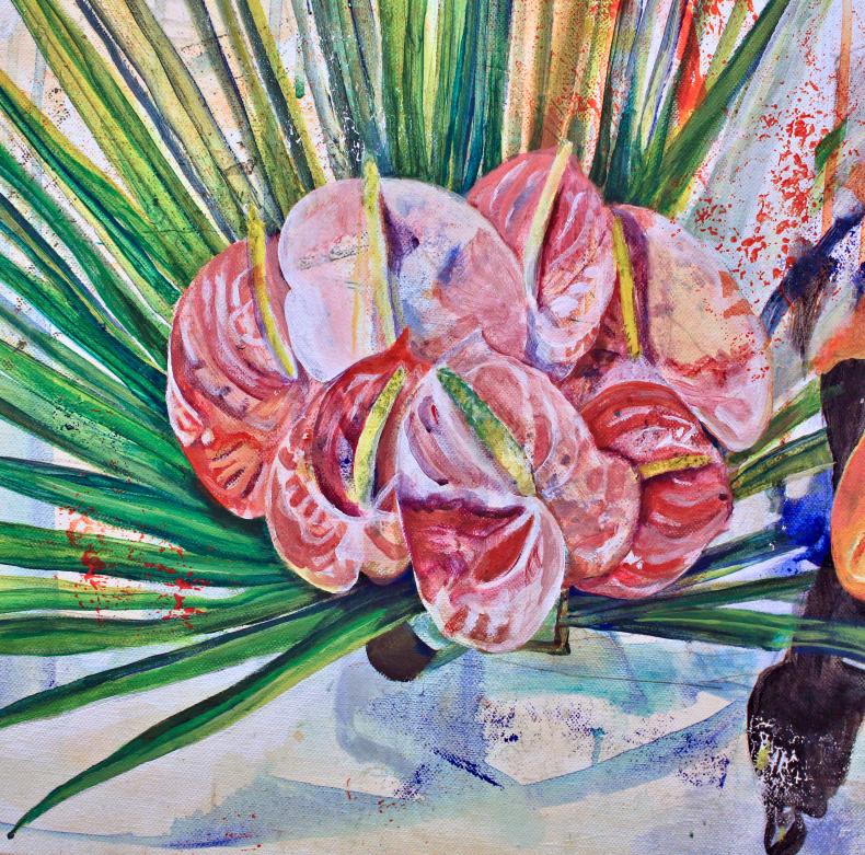Elisha Sarti - Painting in progress - as yet untitled - 2018