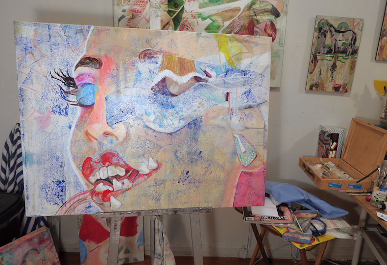 Elisha Sarti - Painting In Progress - 2017