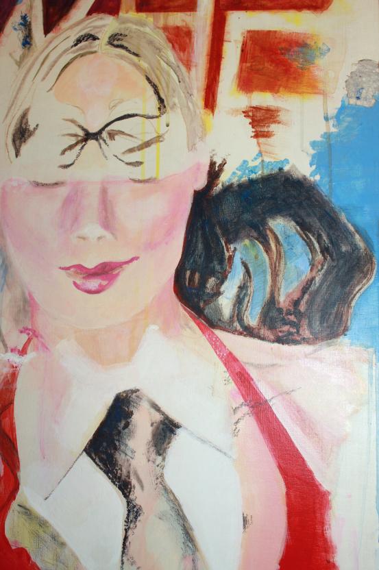 Elisha Sarti - Painting in progress - 2014